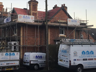 New roofs in Whitchurch, Shropshire