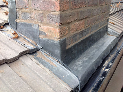 Chimney flashing repairs