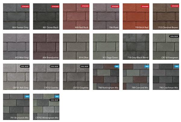Slate colours